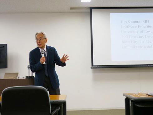 米国アイオワ大学 Jun Kimura教授の大学院セミナー写真
